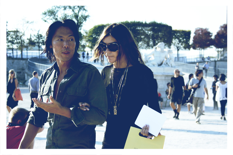 Fashion Week-Paris-aux Tuileries-Lanvin