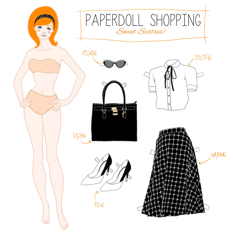 Paperdoll shopping – Sixties