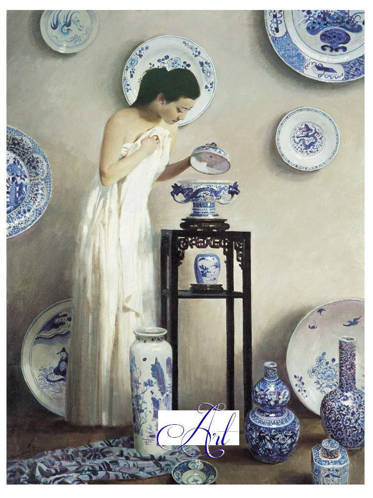 blue porcelain