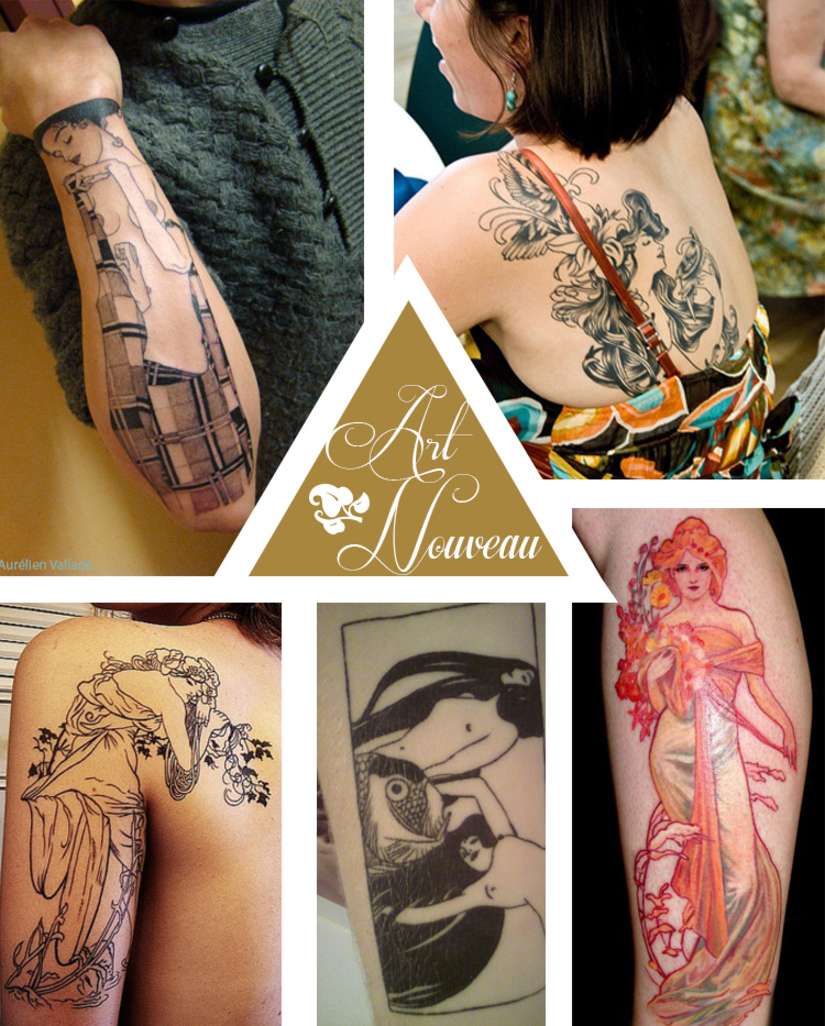 Tattoo ideas #7 – Art Nouveau