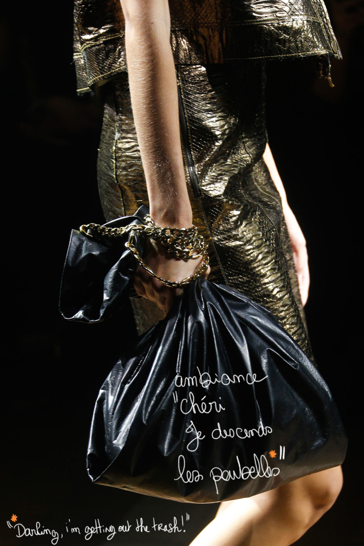 "Trend Alert : ""Trash"" Hand bag at Lanvin"
