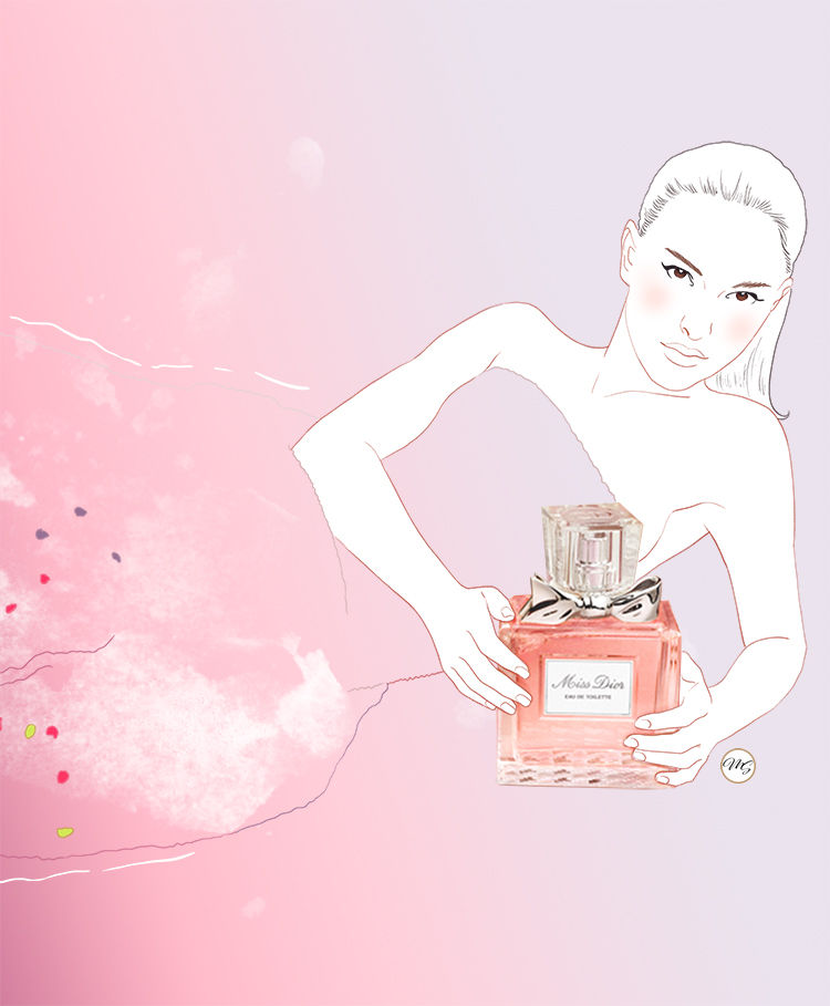 Natalie Portman – Miss Dior {illustration}