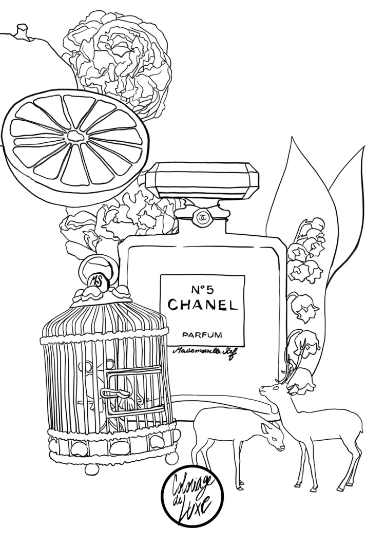 Coloriage Adulte Parfum Coco Chanel N 5