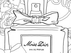 Coloriage : Miss Dior