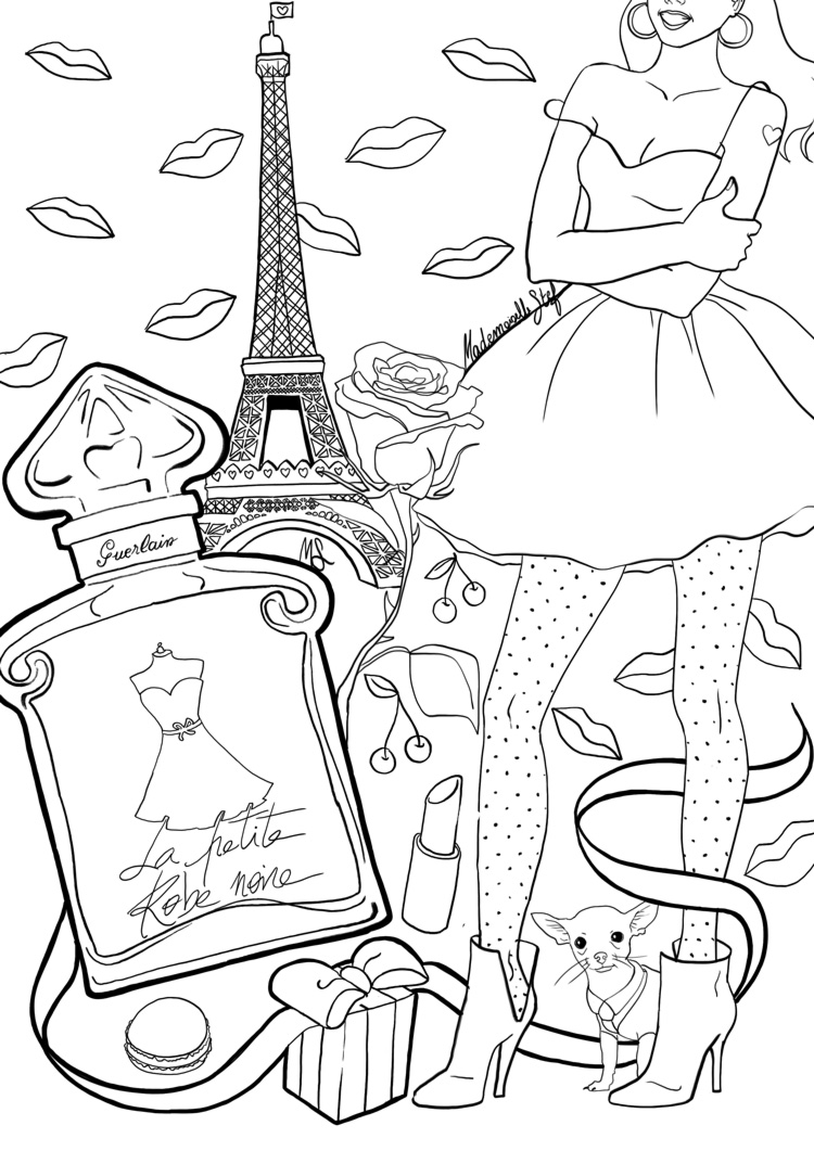 coloriage mademoiselle stef