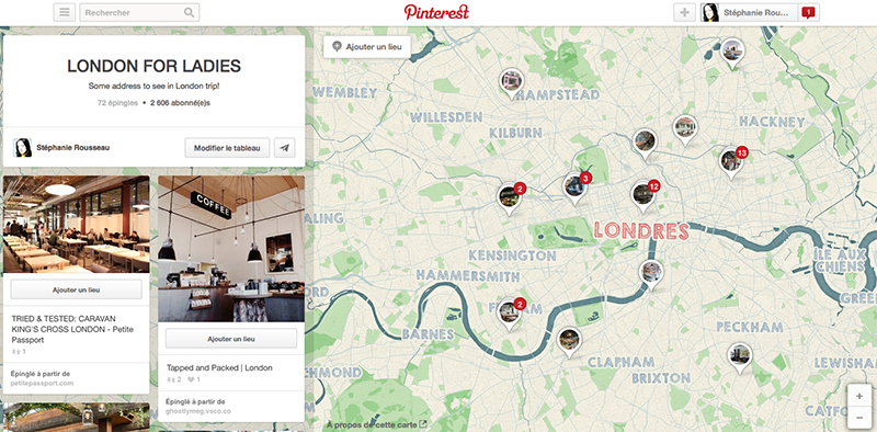 London : Mes adresses sur Pinterest