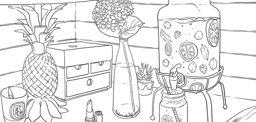 Coloriage : Deco californienne