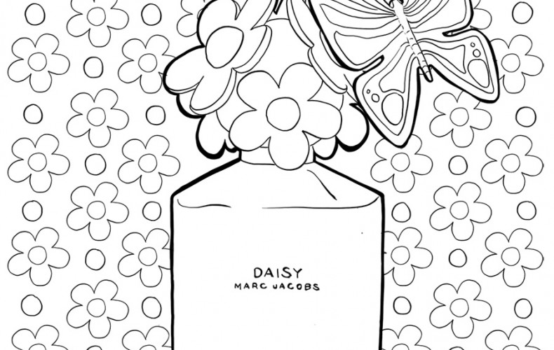 Coloriage : Daisy by Marc Jacobs