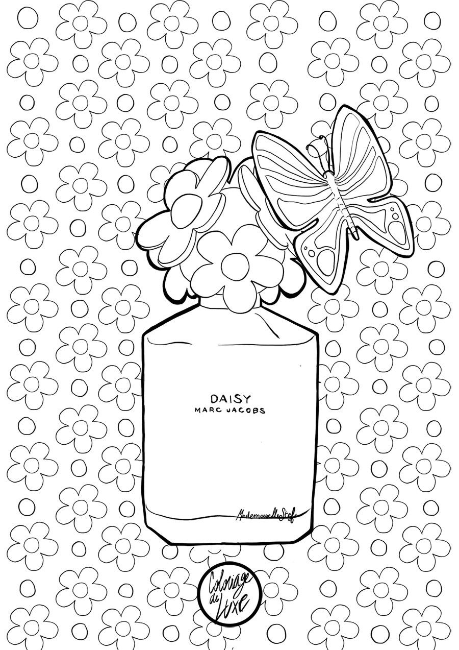 Coloriage Daisy by Marc Jacobs