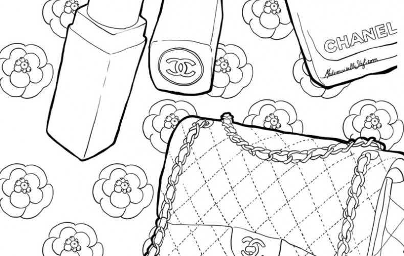 Coloriage : Sac Chanel