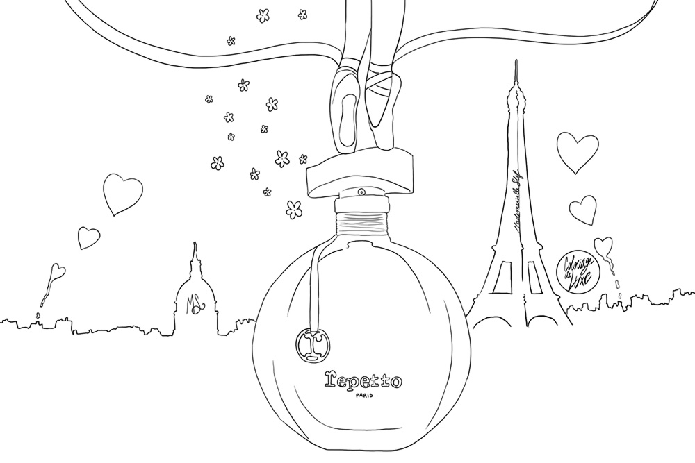 Coloriage : Le parfum Repetto