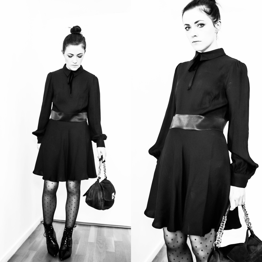 robe noire saint laurent paris