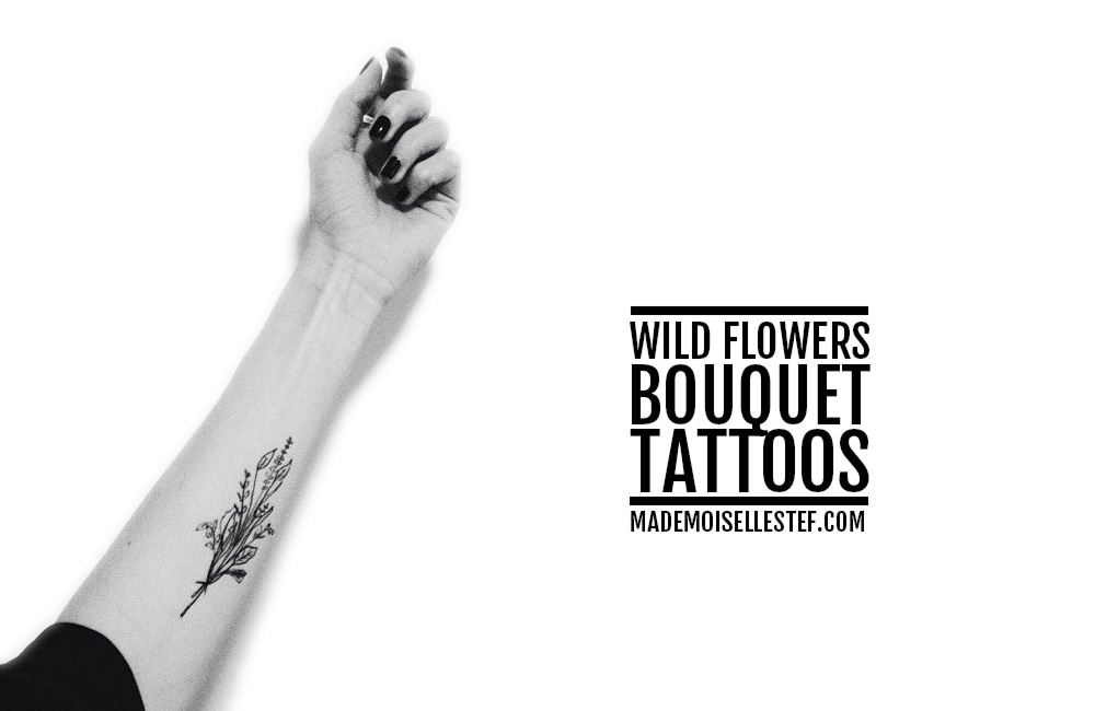 Tattoo Ideas #38 – Wild Flowers Bouquet