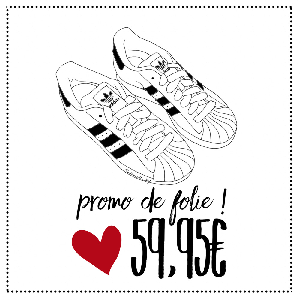 Bon plan shopping : Adidas Superstar à 59,95€