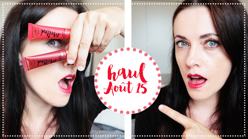 Video Youtube { HAUL n° 2 } : HAUL soins de peau et makeup avec swatch