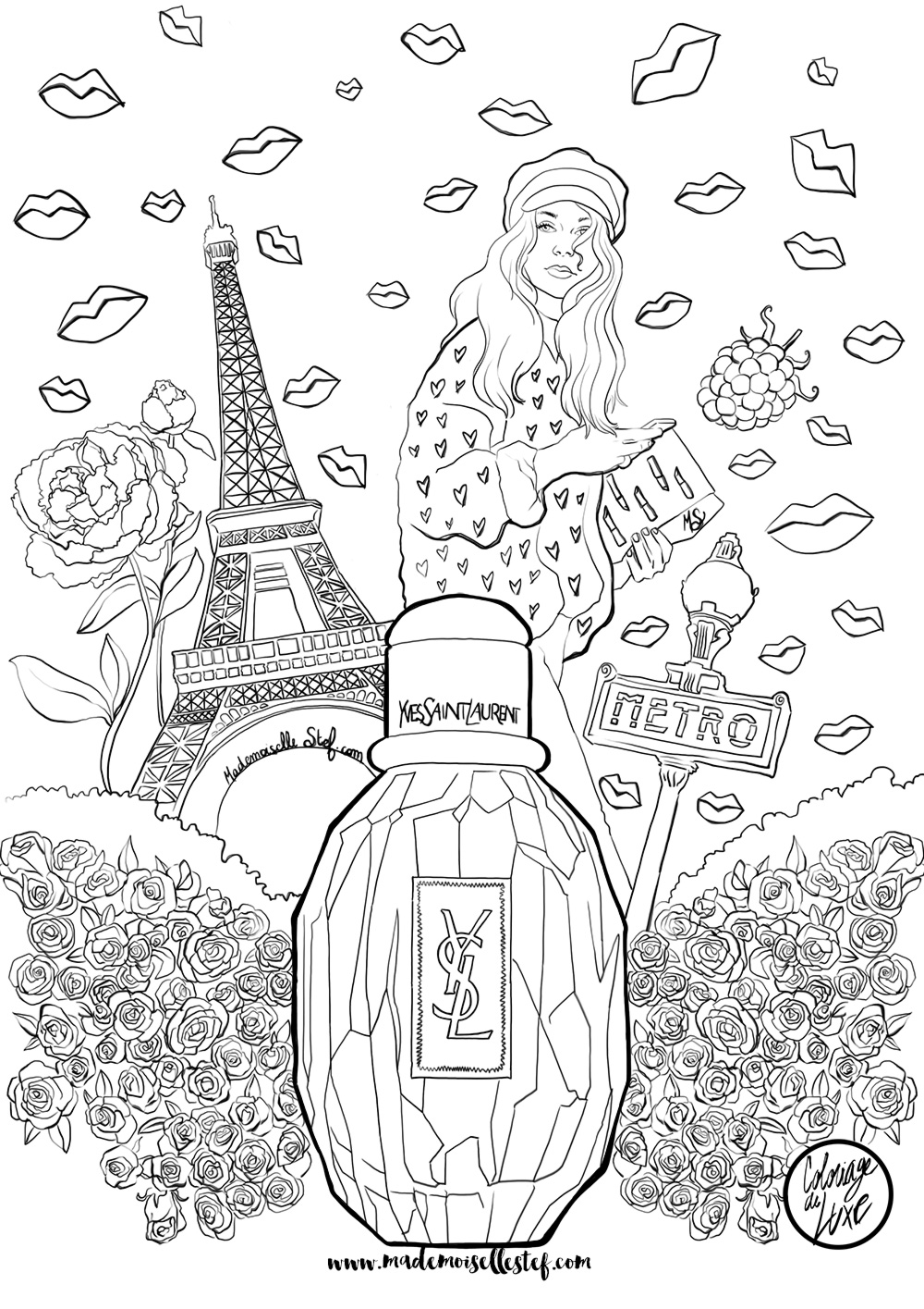 ... Yves Saint Laurent I Mademoiselle Stef - Blog Mode, Dessin, Paris