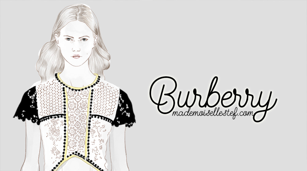 Dessin de mode : Fashion week – Burberry illustration