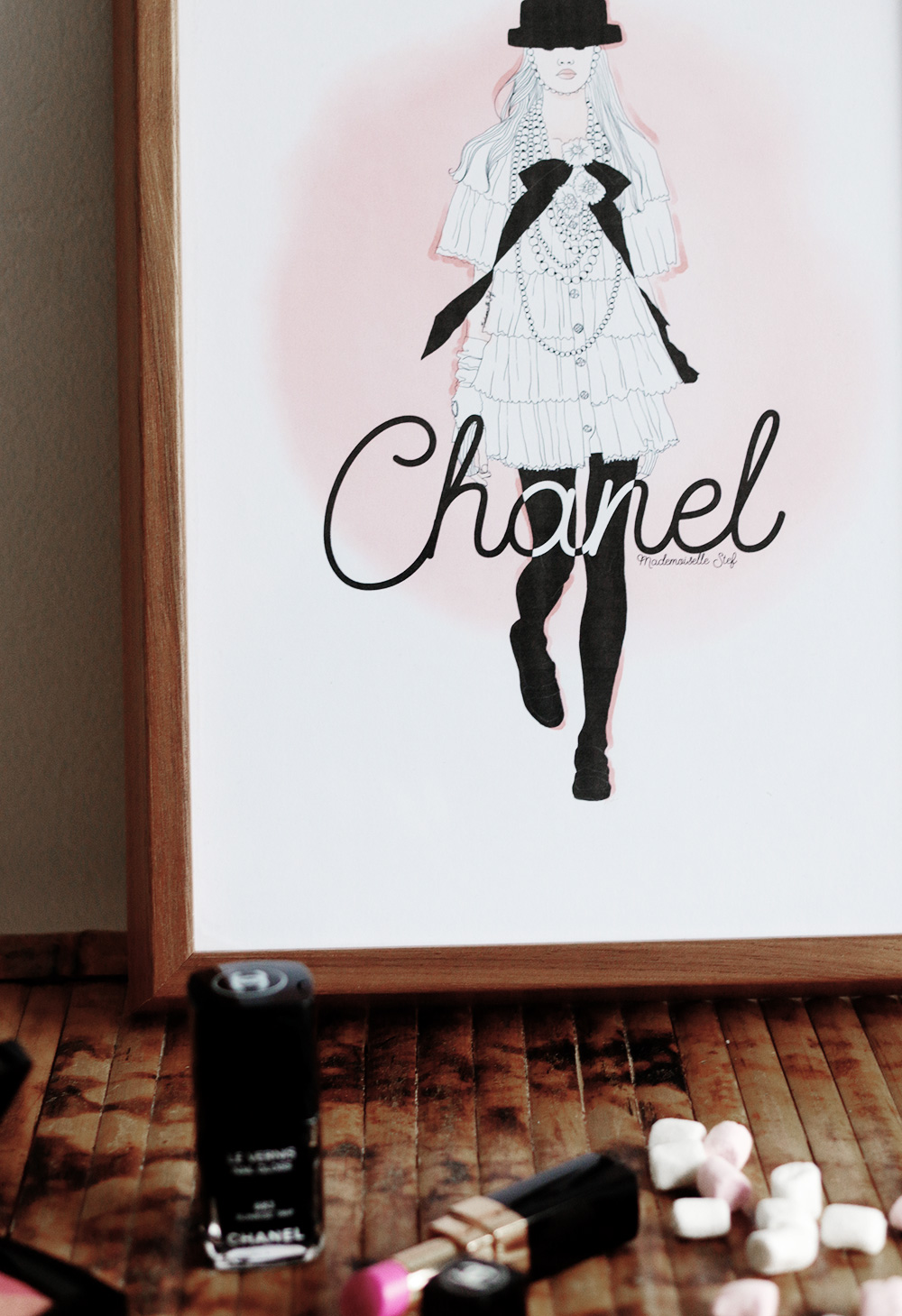 blog mode dessin affiche chanel