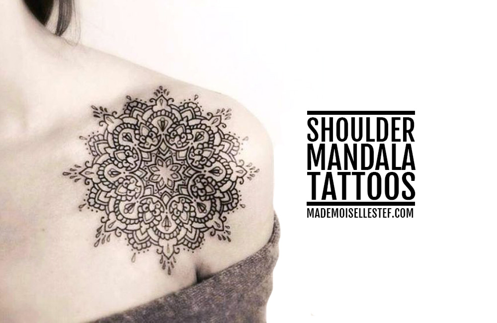 Tattoo Ideas #45 – Shoulder Mandala