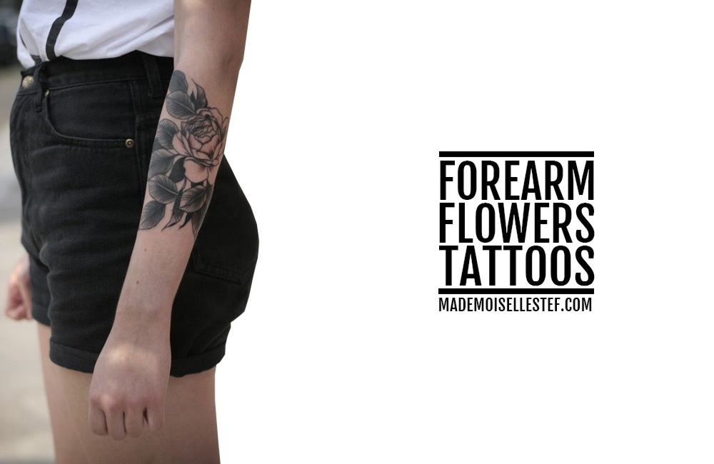 blog tattoo idea forearm flowers
