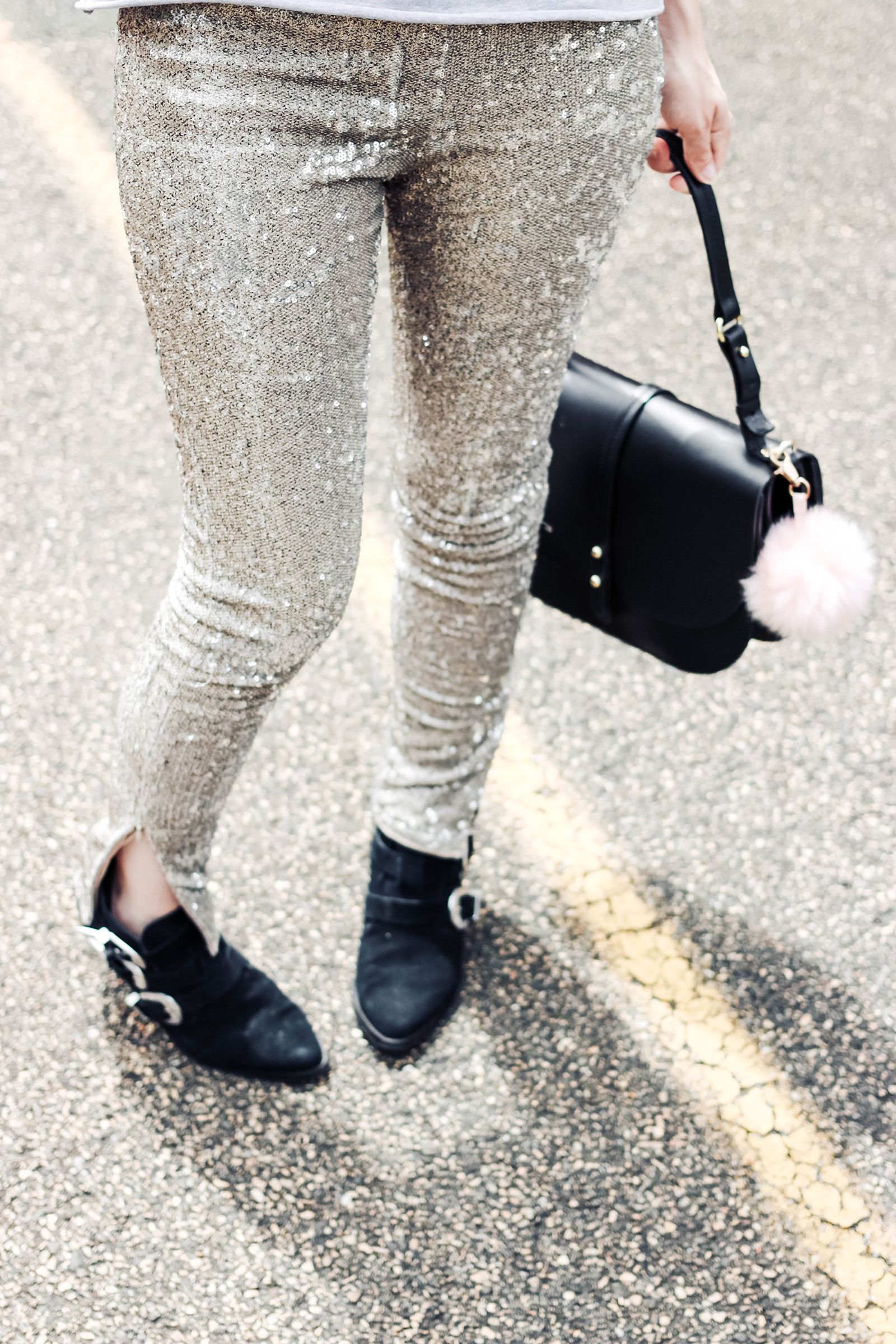 blog mode comment porter pantalon paillettes