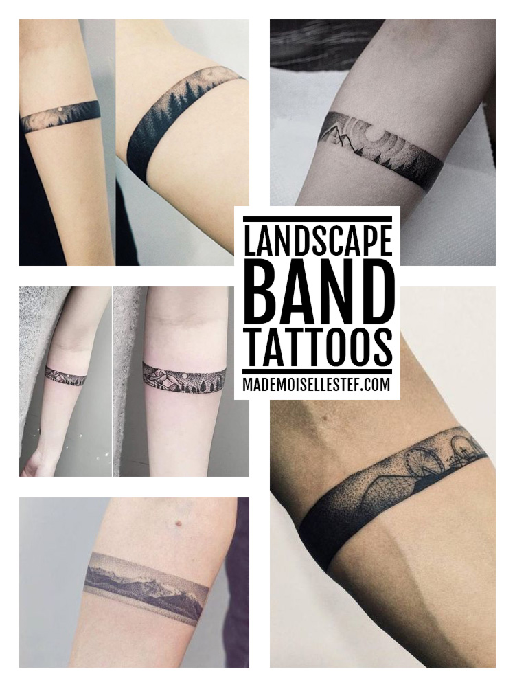 tattoo landscape band