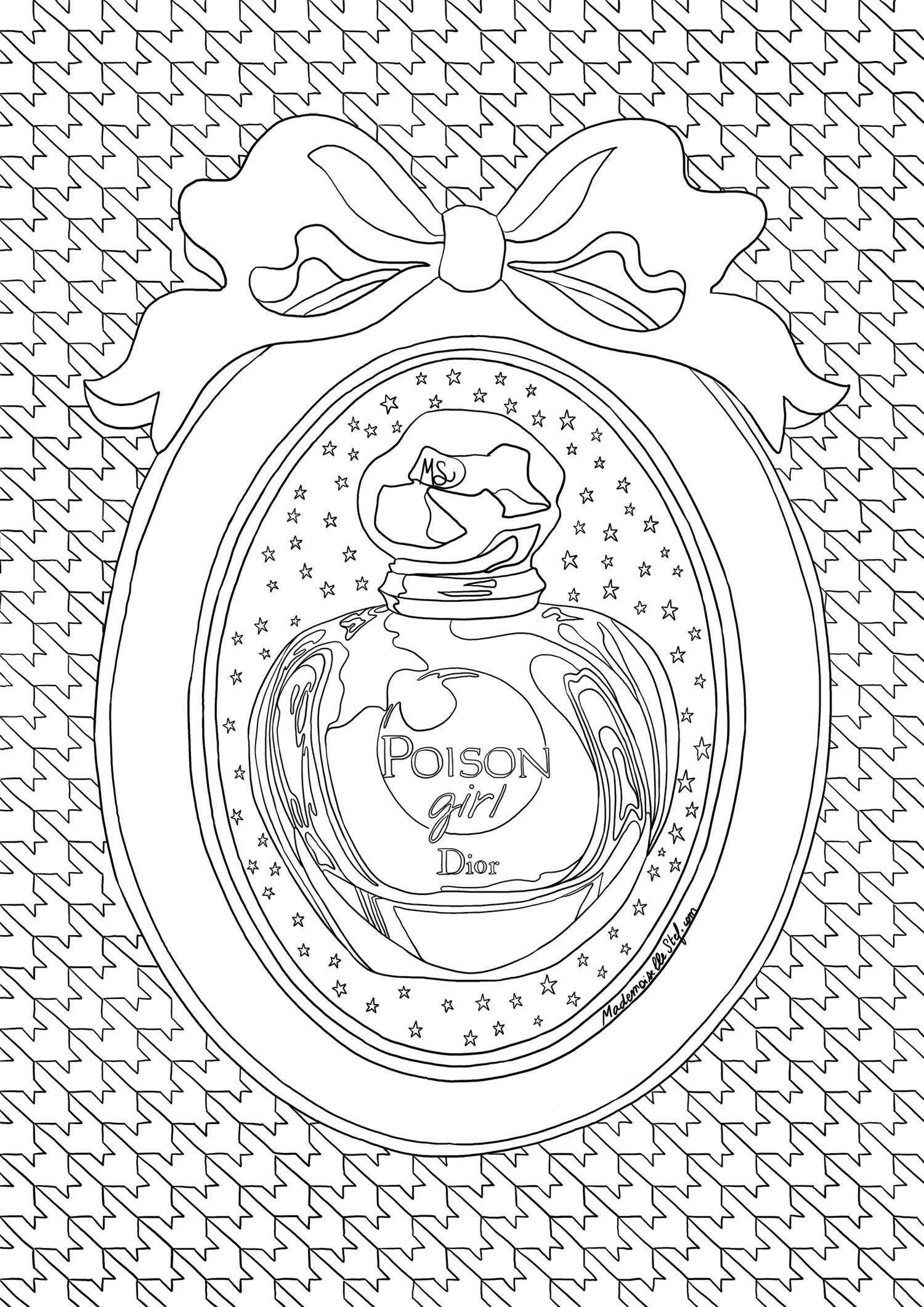 coloriage dior poison girl