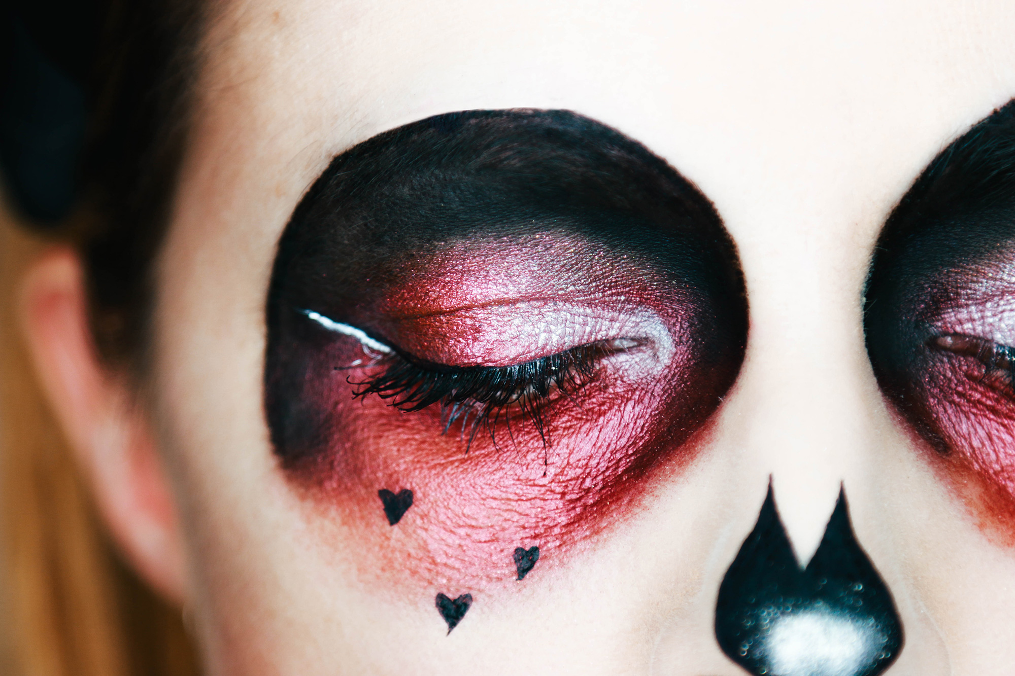 makeup halloween sugar skull
