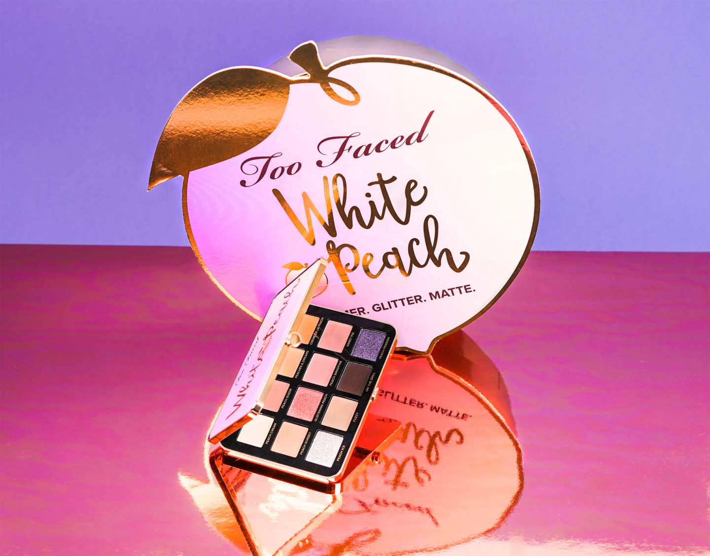 White peach palette Too Faced : swatch & makeup