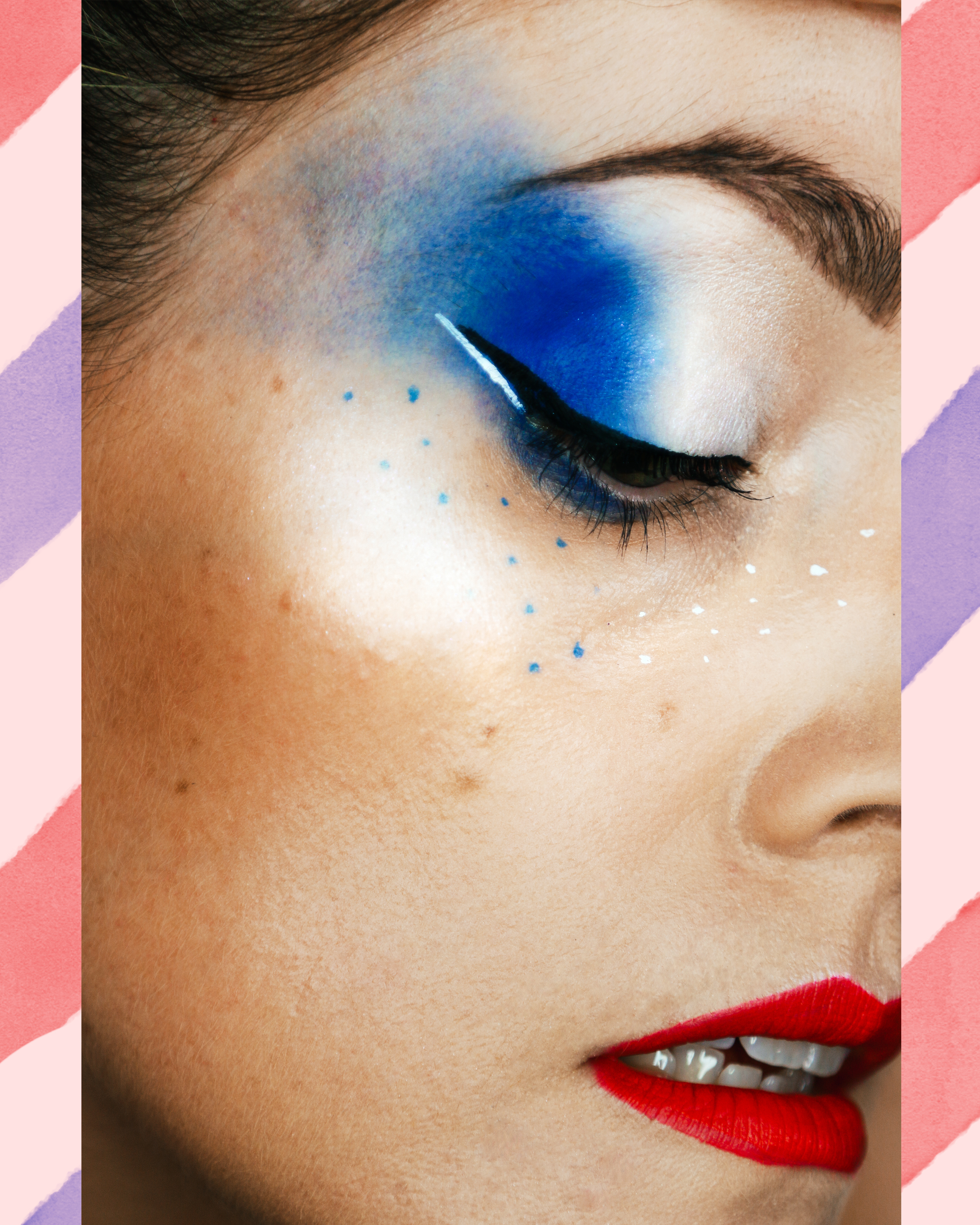 makeup bleu blanc rouge