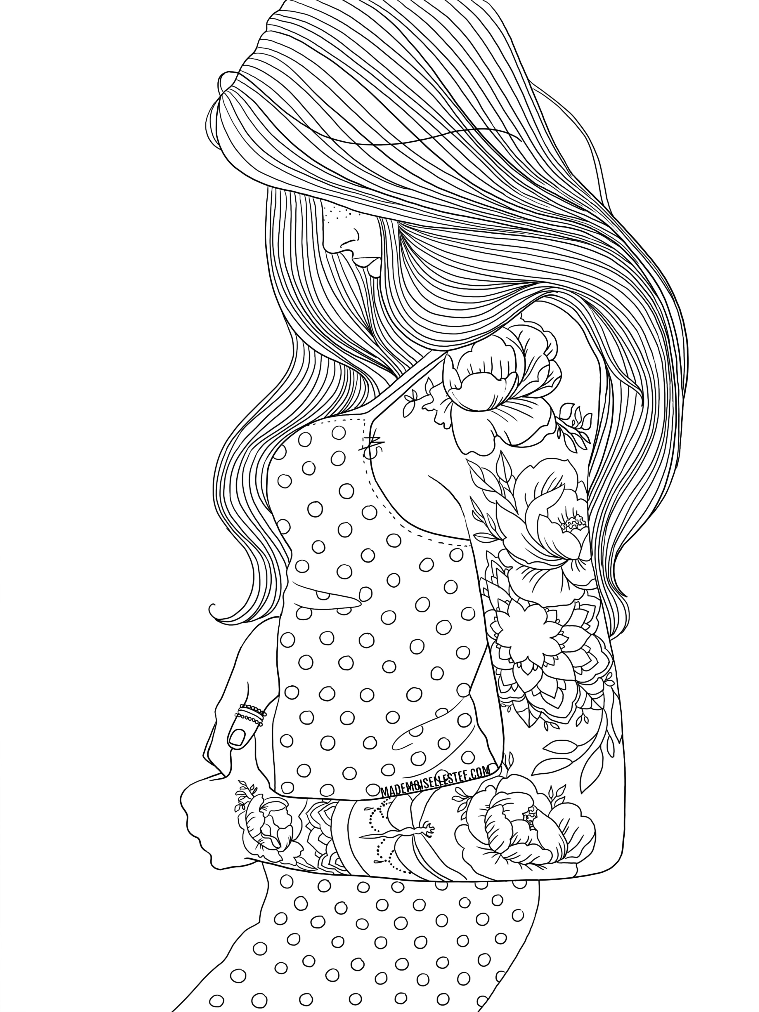 coloriage tattoo