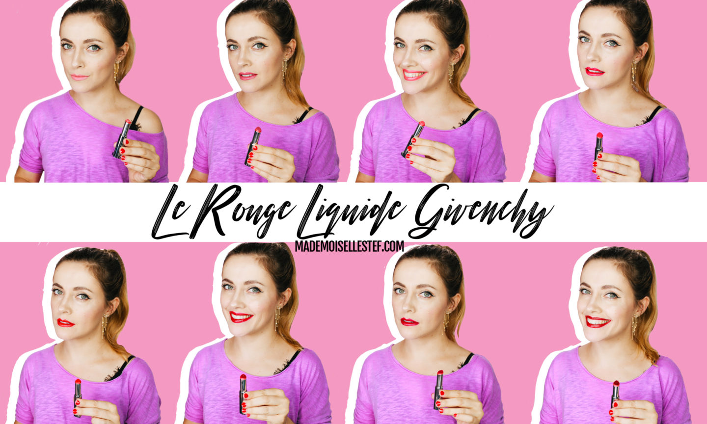 Le Rouge Liquide Givenchy : Review swatches et avis