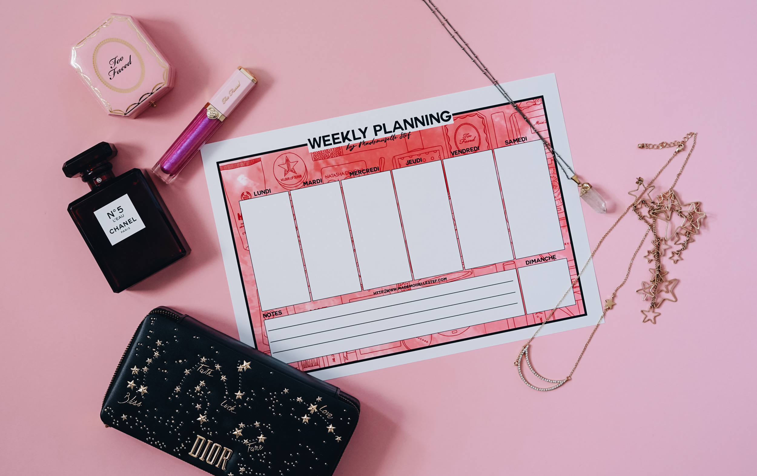 weekly planning janvier 2019