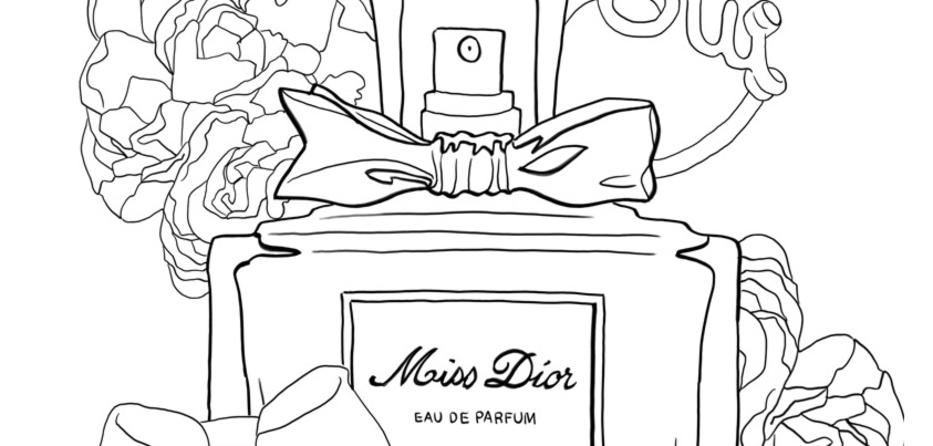 coloriage miss dior