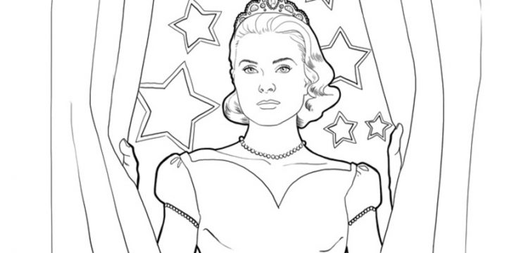 Coloriage grace kelly i mademoiselle stef - Canne coloriage ...