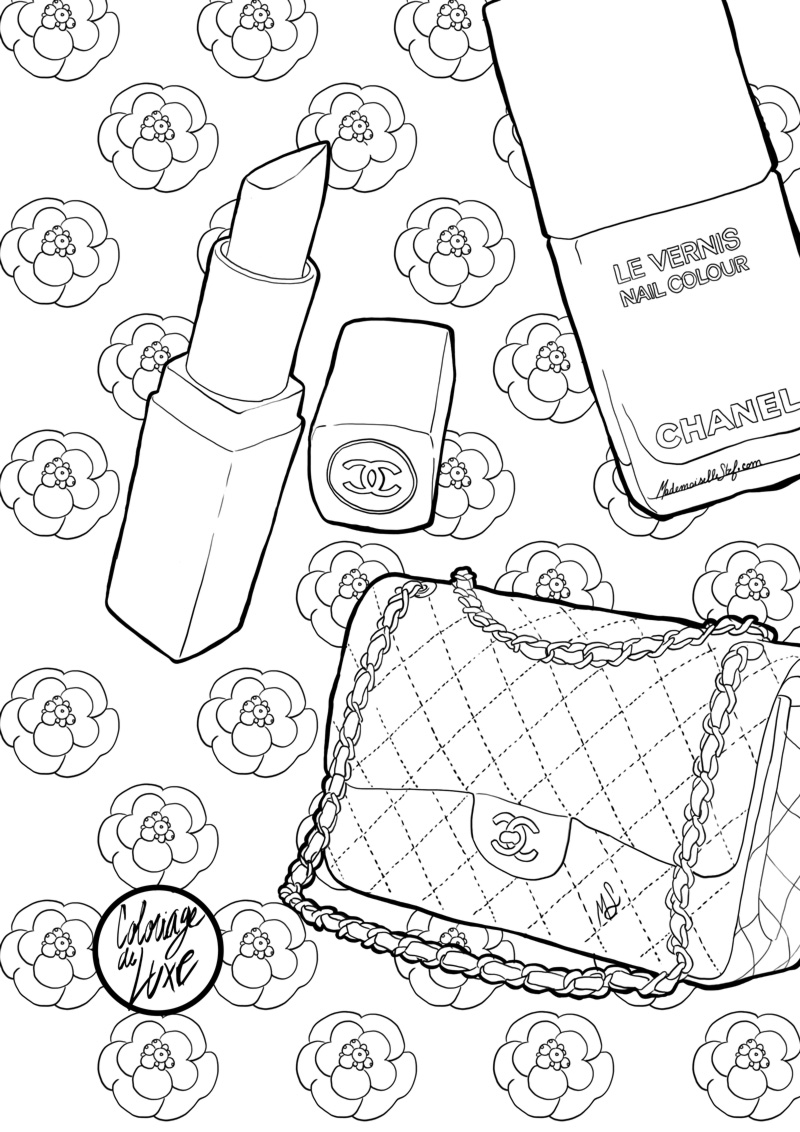 coloriage sac chanel