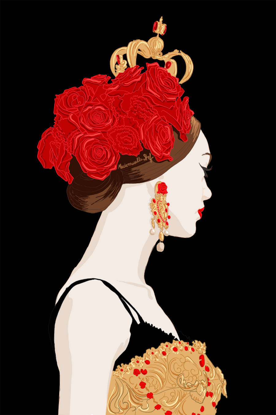 illustration dolce gabbana