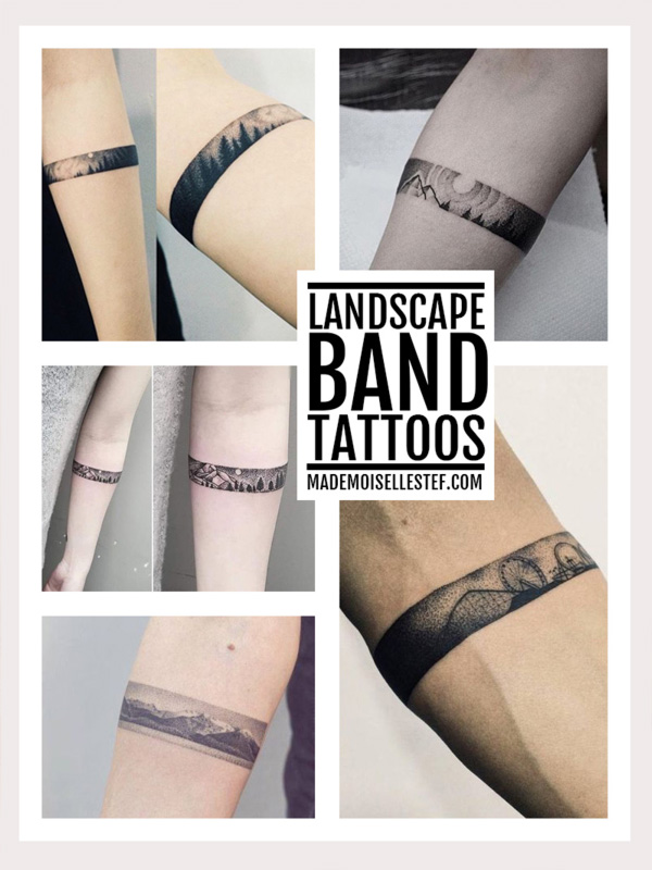 tattoo idea landscape band